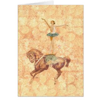 Ballerina zu Pferd Grußkarte