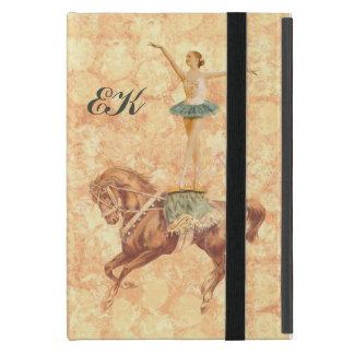 Ballerina zu Pferd, Monogramm iPad Mini Hüllen