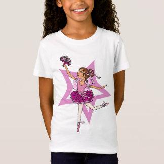 Ballerinastern im Rosa mit Spitze des dunklen T-Shirt