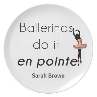 Ballerinen so es! melaminteller