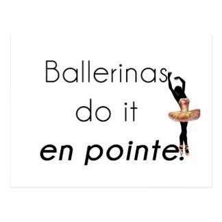 Ballerinen so es! postkarte