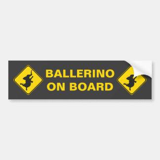 Ballerino an Bord! Autoaufkleber