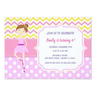 Ballerins Mädchen-Geburtstags-Party Einladung