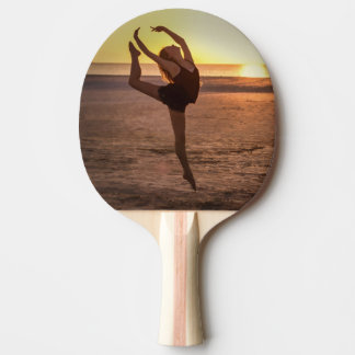 Ballett auf dem Strand Tischtennis Schläger
