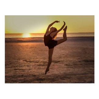 Ballett auf der Strand-Postkarte Postkarte