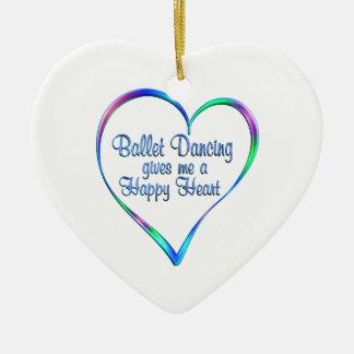 Ballett, das glückliches Herz tanzt Keramik Herz-Ornament