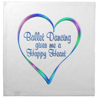Ballett, das glückliches Herz tanzt Serviette