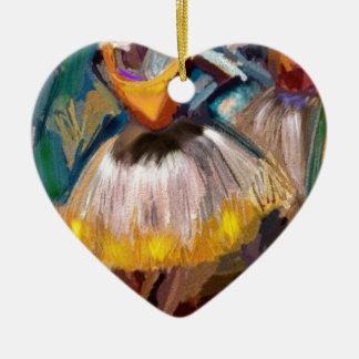 Ballett - Dega Keramik Herz-Ornament