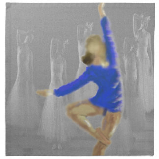 Ballett-Drehungs-Kunst Stoffserviette