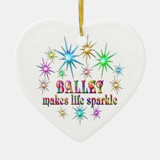 Ballett-Glitzern Keramik Herz-Ornament