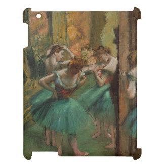 Ballett-Grafik-Tänzer rosa und grüner Edgar Degas iPad Hülle