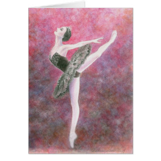 Ballett-Gruß-Karte - schwarzer Schwan Karte