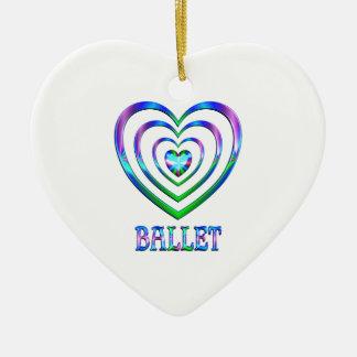Ballett-Herzen Keramik Ornament