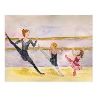 Ballett-Klasse Postkarte