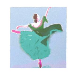 Ballett-Kleiderkunst Notizblock