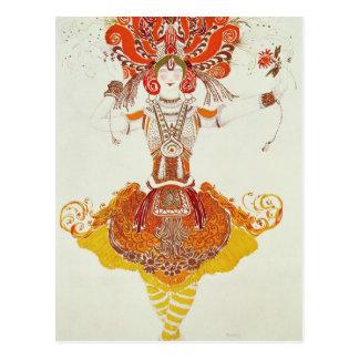 """Ballett-Kostüm für """"das Firebird"""", durch Postkarte"""