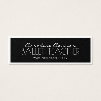 Ballett-Lehrer-schwarze u. weiße angrenzende Karte