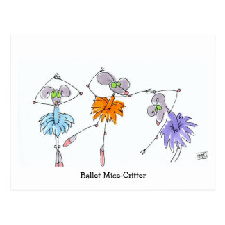 Ballett Maus-Lebewesen Postkarte