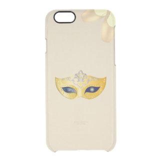 Ballett-Opern-goldene Maske und Pointe Schuhe Durchsichtige iPhone 6/6S Hülle