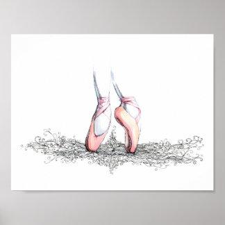 Ballett-Pantoffel-Plakat Poster