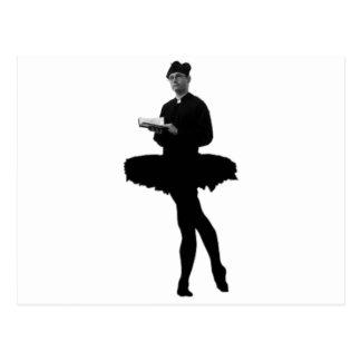 Ballett-Pfarrer Postkarte