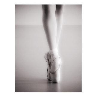 Ballett Pointe beschuht Sepia-Tanzen-Pantoffel Postkarte