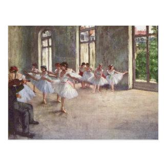 Ballett-Probe entgasen vorbei Postkarte