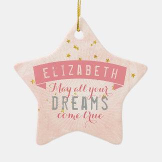 Ballett-rosa Baby-süße Träume Keramik Stern-Ornament