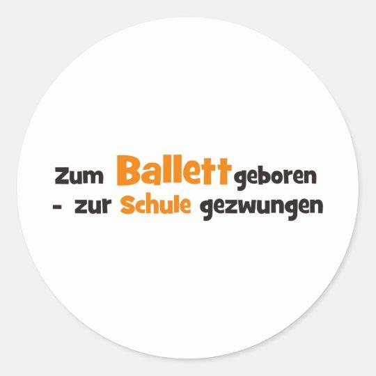 ballett runder aufkleber