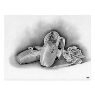 Ballett-Schuh-Postkarte