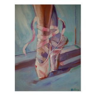 Ballett-Schuhe Postkarte