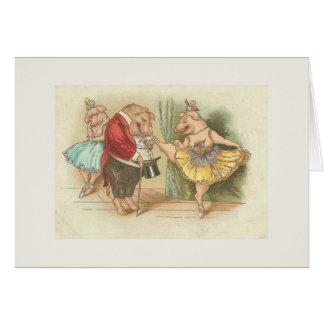 Ballett-Schwein Karte