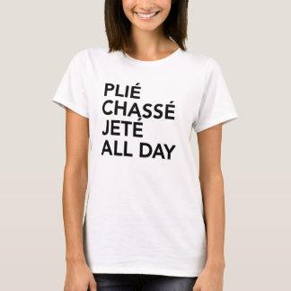 Ballett-T - Shirt plie Chasse Jete den ganzen Tag