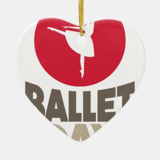 Ballett-Tag - Anerkennungs-Tag Keramik Herz-Ornament