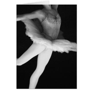 Ballett - Tanz - Ballerina 9 - Schwarzes u. Weiß Karte
