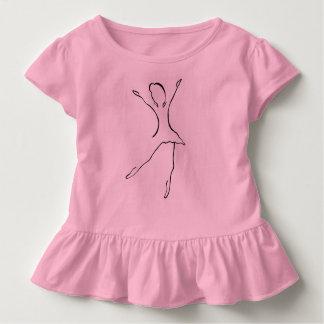 Ballett-Tanz-Entwurf Kleinkind T-shirt