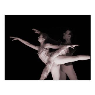 Ballett - Tanz Partners 2 - Rot Postkarte