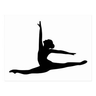 Ballett-Tänzer-Ballerina Postkarte