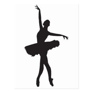 BALLETT-TÄNZER (Ballerina-Silhouette) ~.png Postkarte