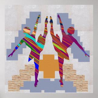 BALLETT-TÄNZER:  Dansers weißer Poster