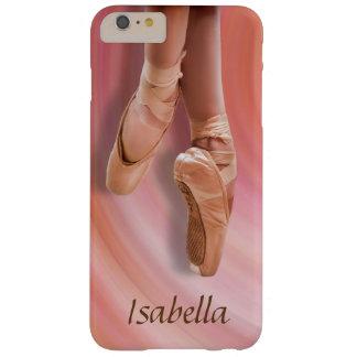 Ballett-Tänzer im Rosa mit individuellem Namen Barely There iPhone 6 Plus Hülle
