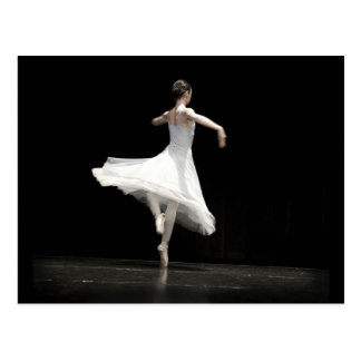 Ballett-Tänzer Postkarte
