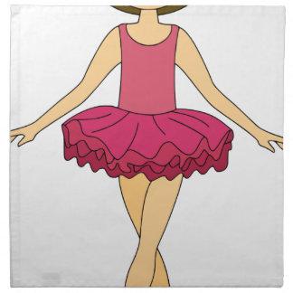 Ballett-Tänzer Serviette