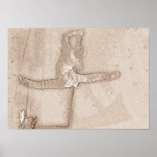 Ballett-Tänzer-Skizze-Plakat Poster