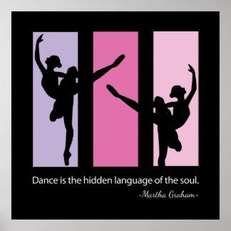 Ballett-Tänzer-Zitat-Zeitgenosse Poster