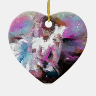Ballett-themenorientierte Geschenke Keramik Herz-Ornament