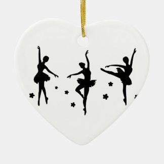 Ballett, w keramik ornament