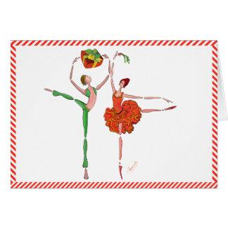 Ballett-Weihnachtsgeschenk, -mistelzweig, -Kitri Karte