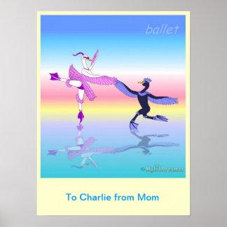 Ballettgewohnheitsplakat Plakat