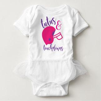 Ballettröckchen-u. Landungs-Fußballfan-Baby Baby Strampler